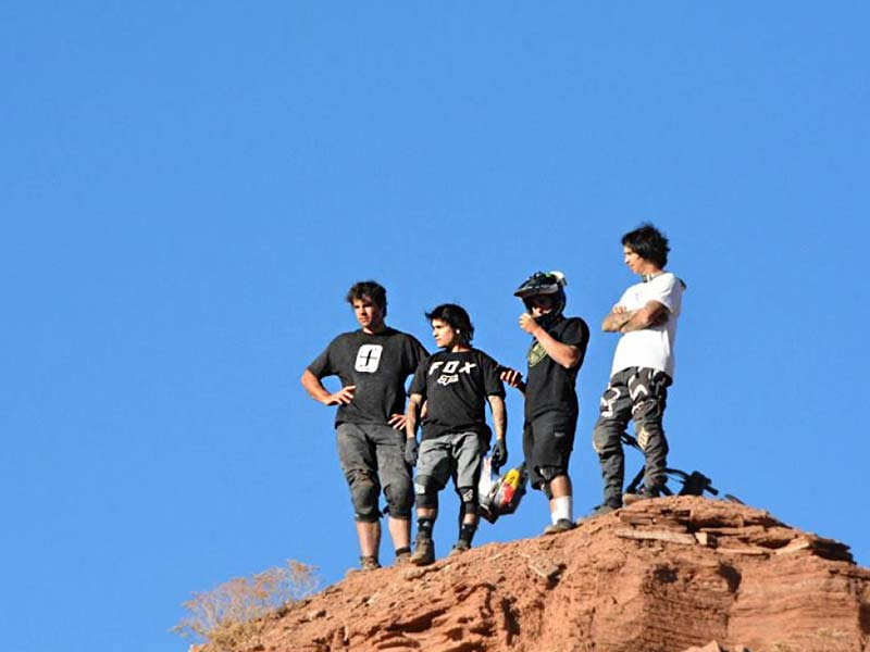 Andreu Lacondeguy and his crew at the MtnRanks Grompage