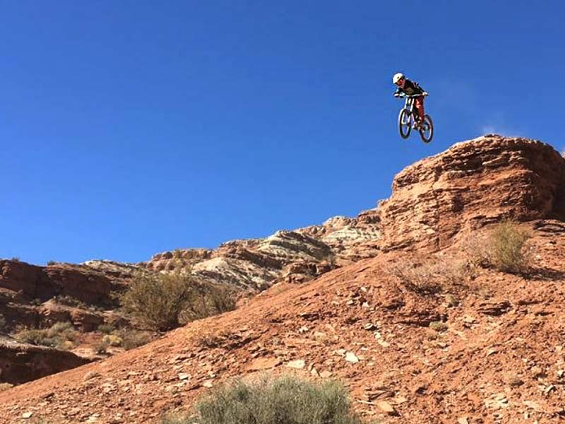 Alex Mallen drops Canadian Bacon at the old Red Bull Rampage site