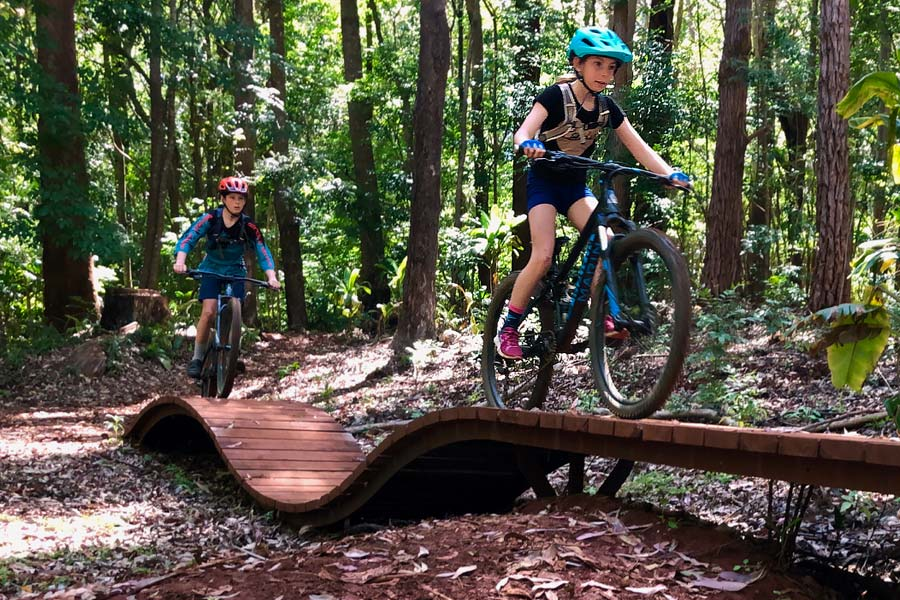 Riding Maui's Bike Park With Kids