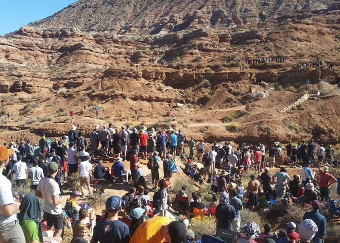 Big crowds at the Red Bull Rampage