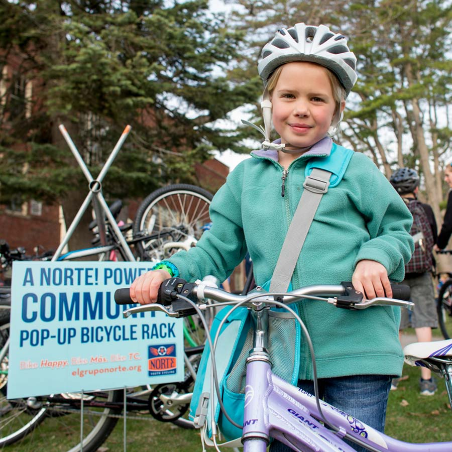 Norte encourages young riders to bike to school