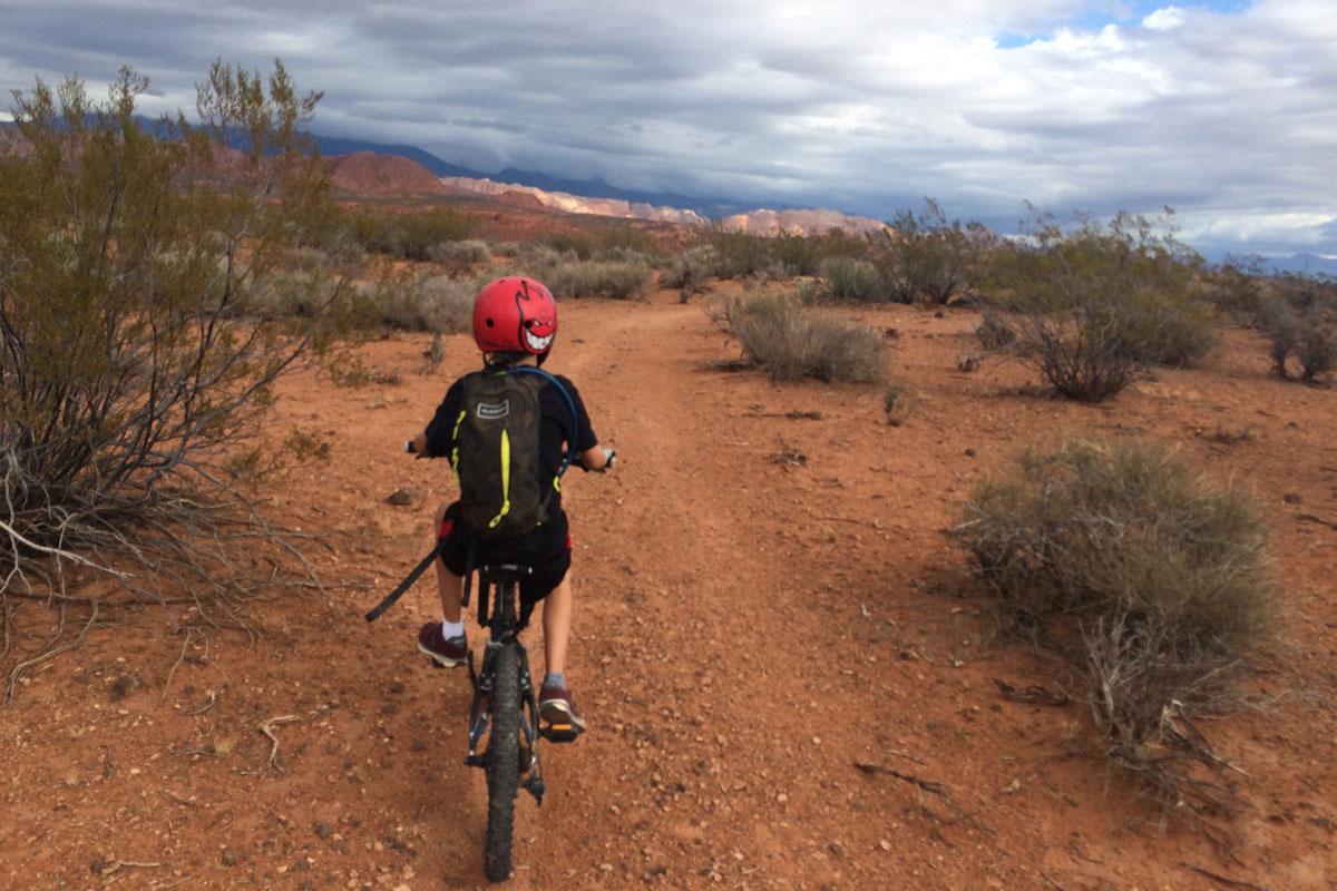 Church-rocks-desert-clouds-mountain-bike-st-george