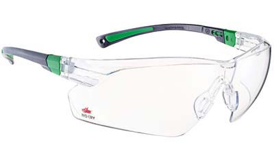 Safey glasses with clear lenses for mountain bikers