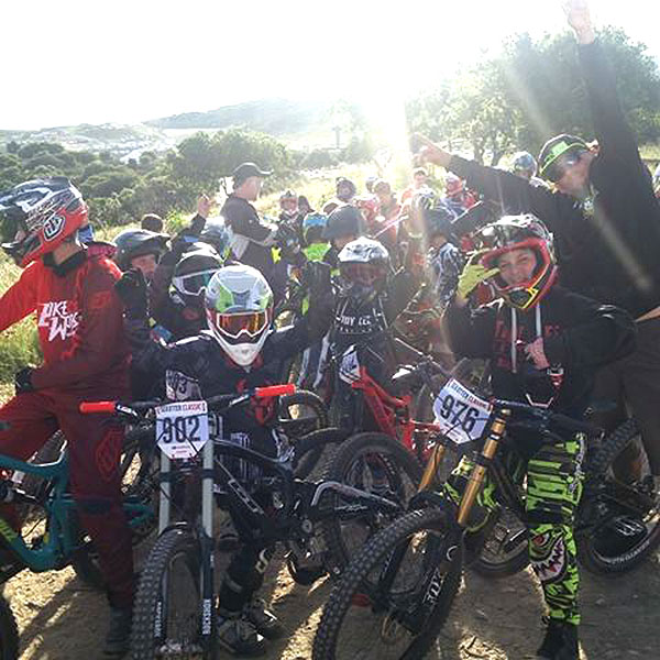 Ready to rock the junior DH race at the Sea Otter Classic