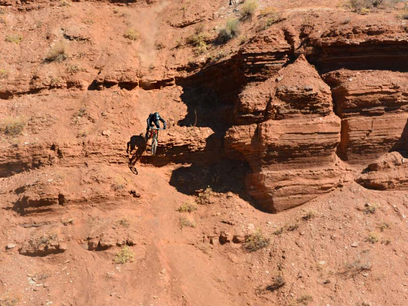 Dillon at the old Red Bull Rampage site
