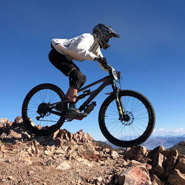 The Giro Disciple helmet is a full-face helmet for mountain biking