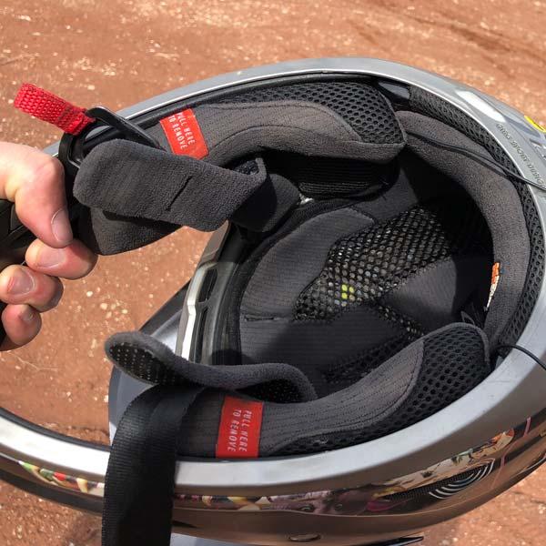 Headphones concealed in the Giro Disciple mtb helmet