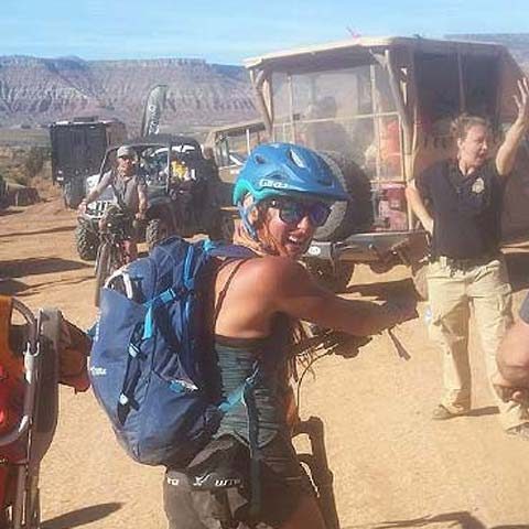 Headed to to the bike valet at Red Bull Rampage