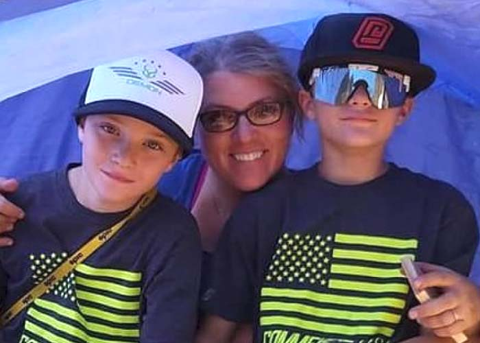 Liz and her twin boys
