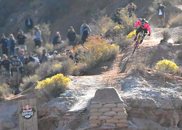 Logan Binggeli at the Red Bull Rampaage