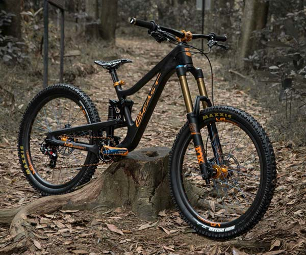 The Meekboyz Beast 24 is a downhill bike for kids with a carbon frame