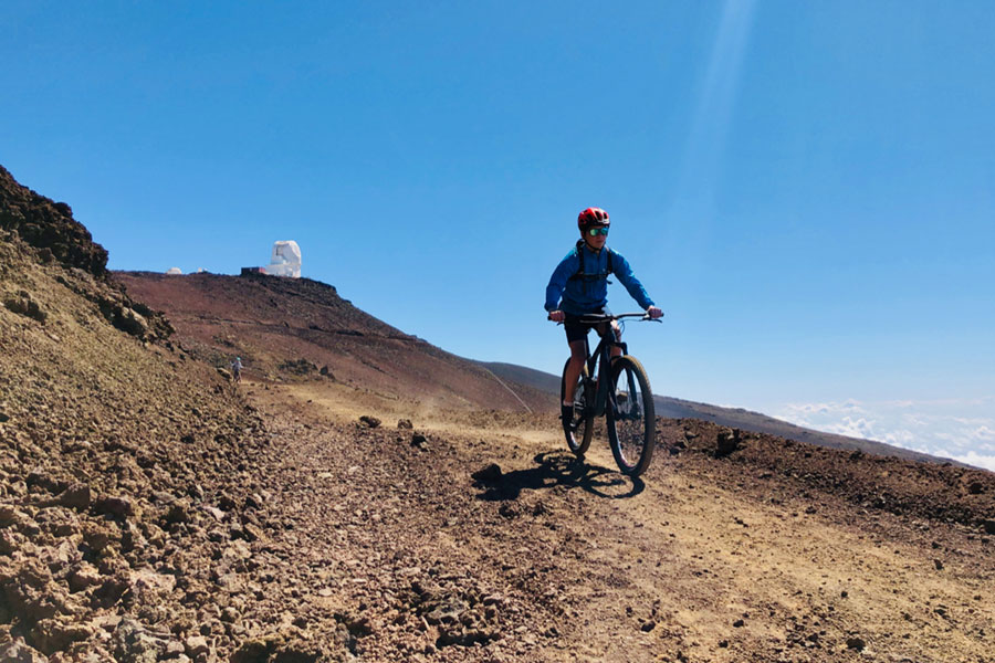 Mountain biking Maui's Skyline trail
