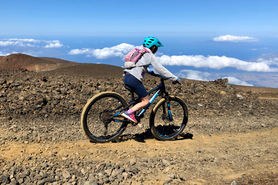 MTB With Kids - Maui Skyline Trail