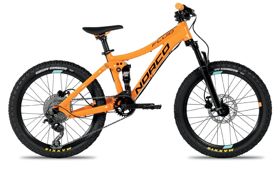 20 inch Norco Fluid full-suspension mountain bike