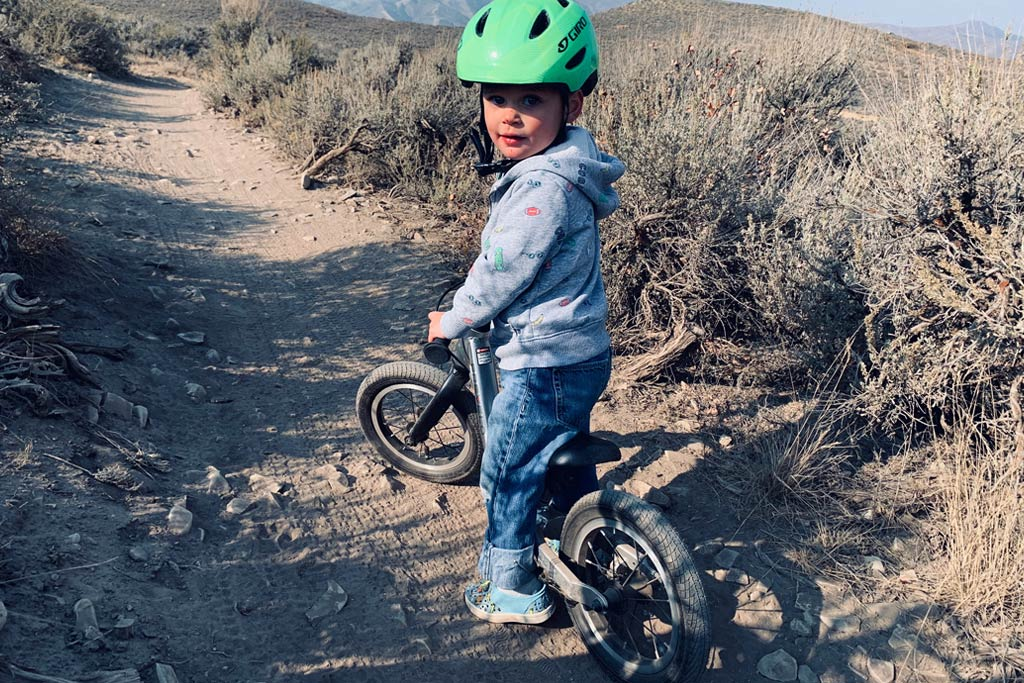 Looking good on the Prevelo Alpha Zero - a balance bike for kids