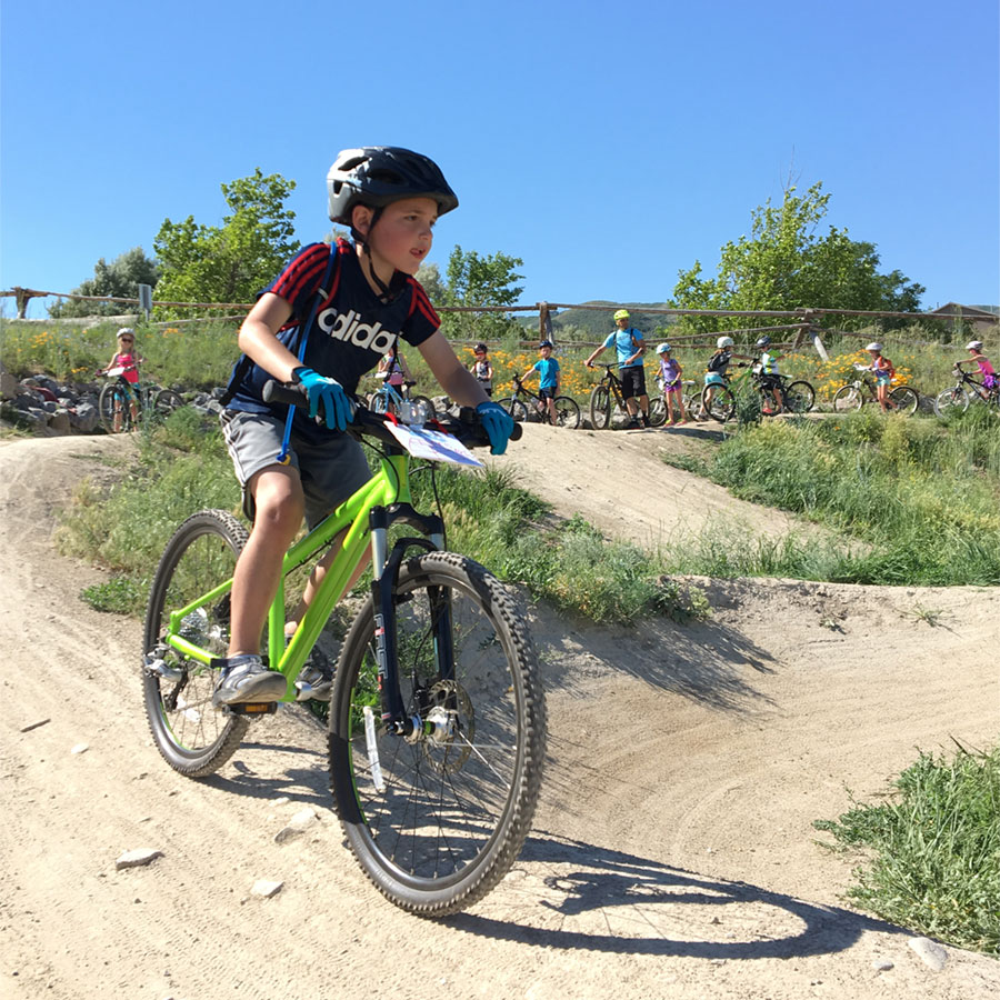 The Trikes To Trails program gets kids on the pump track, too.
