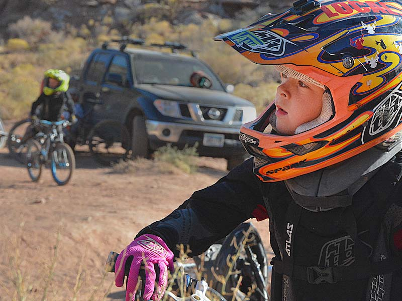 A young freeride mountain biker at the 2017 MtnRanks Fanpage
