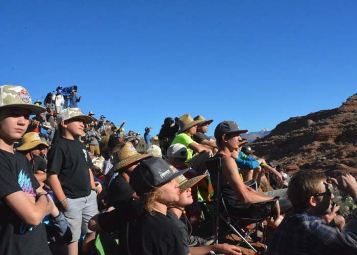 Spectators at the Red Bull Rampage take it all in