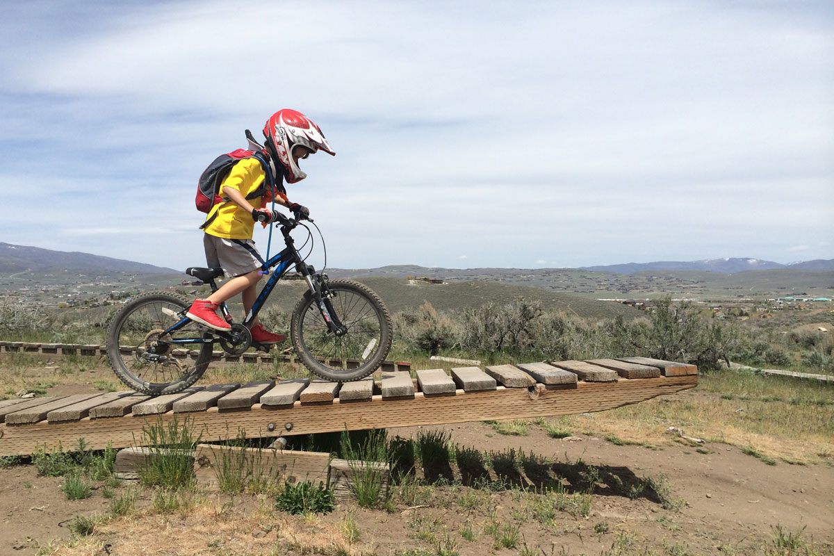 Trailside Mountain Bike Park, Park City, UT, skills