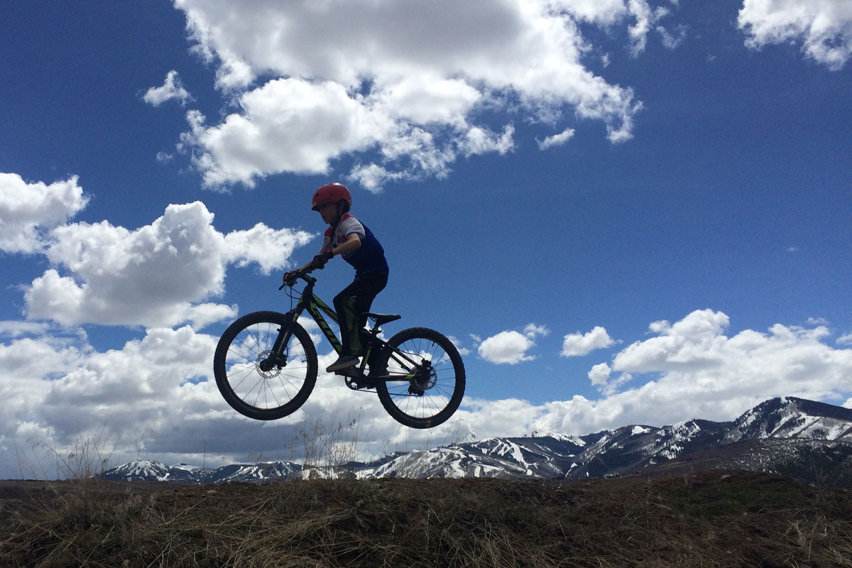 Trailside Mountain Bike Park, Park City, UT, jump line