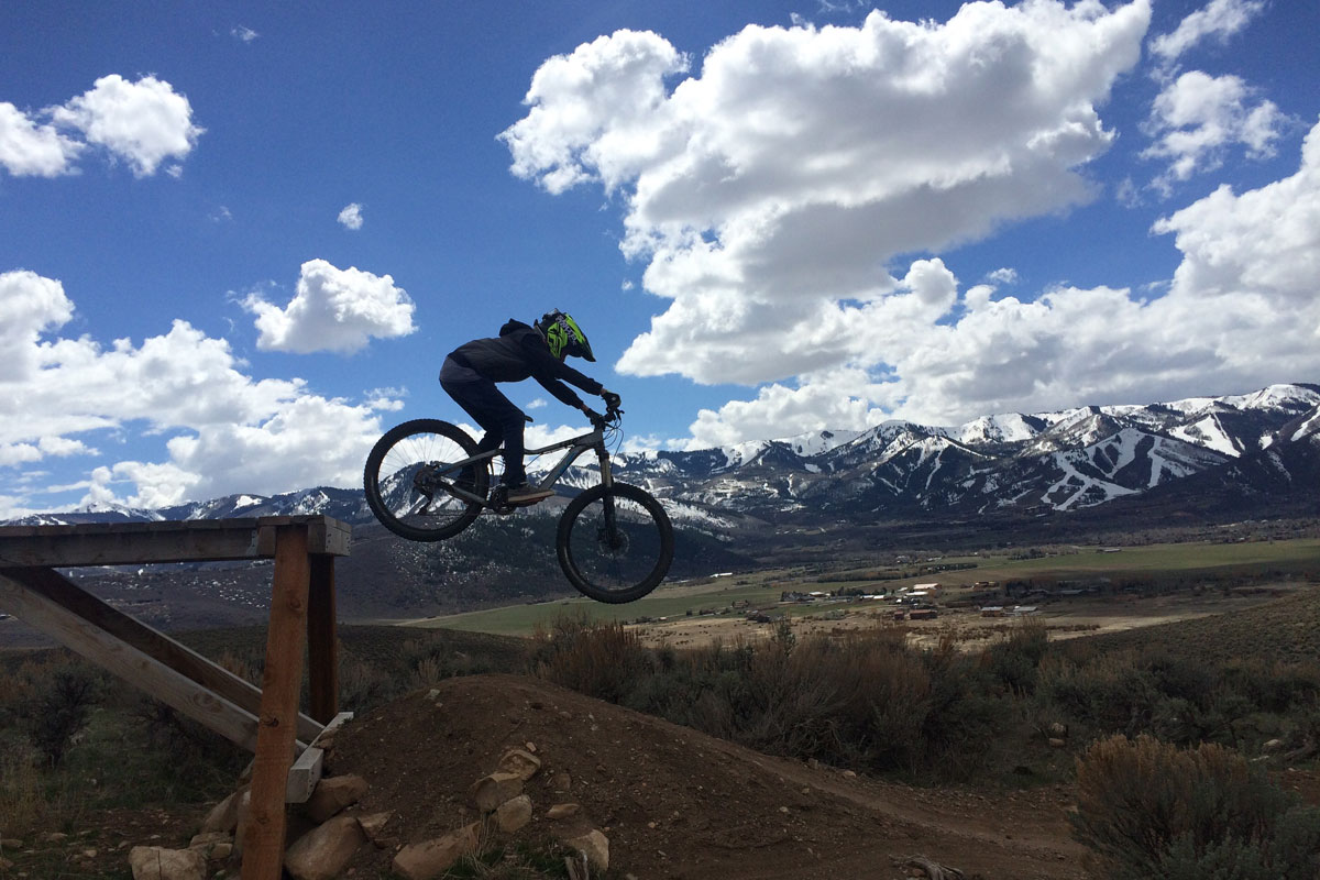 Trailside Mountain Bike Park, Park City, UT, Bamm Bamm drop