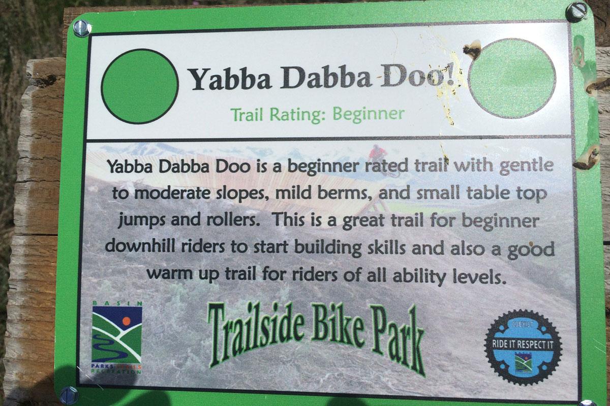 Trailside Mountain Bike Park, Park City, UT, yabba dabba doo