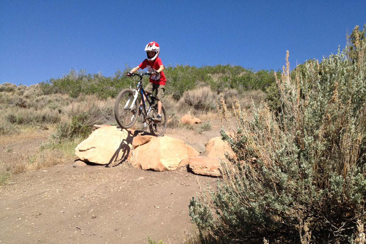Trailside Mountain Bike Park, Park City, UT, tech skills