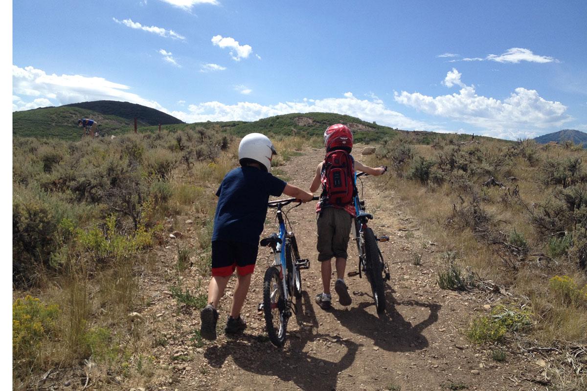 Trailside Mountain Bike Park, Park City, UT, push
