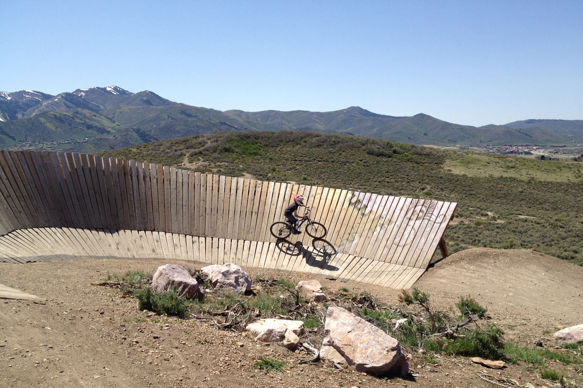 Trailside Mountain Bike Park, Park City, UT, Bronto Jam wall ride