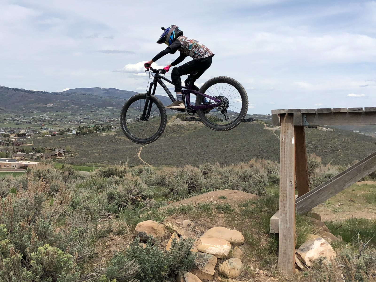 Dropping in at Trailside Bike Park