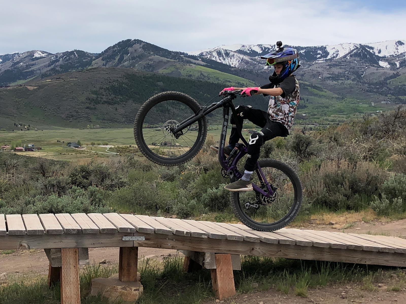 Wheelie mode on the Trek Fuel EX 8 in Park City