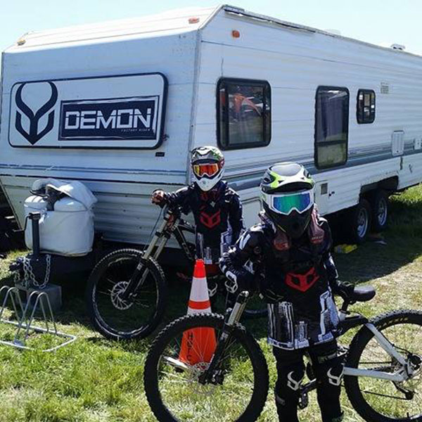 The Mallen twins are ready for action at the Sea Otter Classic