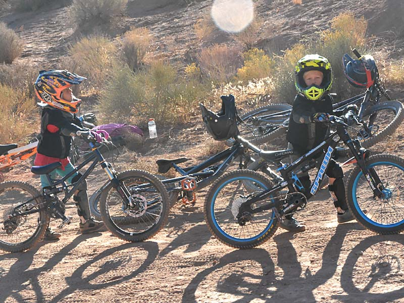 Two of the youngest mountain bikers at the event