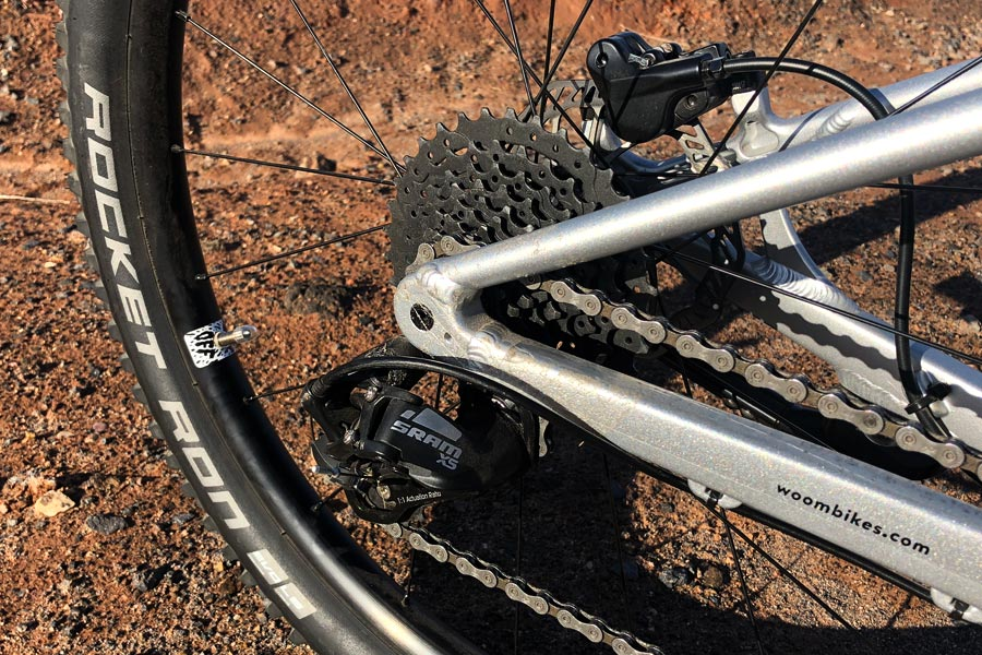 Rear mech derailleur and cassette - Woom Off 5 Review