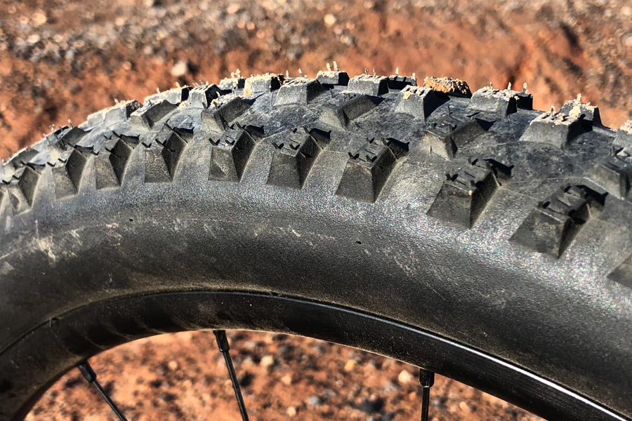 Shwalbe Rocket Ron tire detail - Woom Off 5 Review