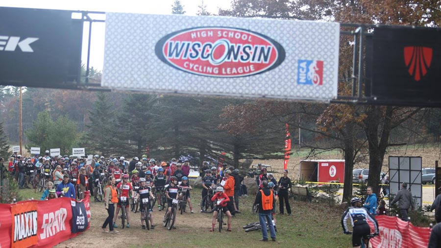 Racers getting staged for the 2016 Wisconsin State Championship at Iola Winter Park.