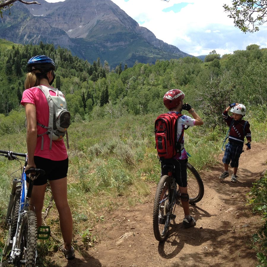 Family mountain bike ride