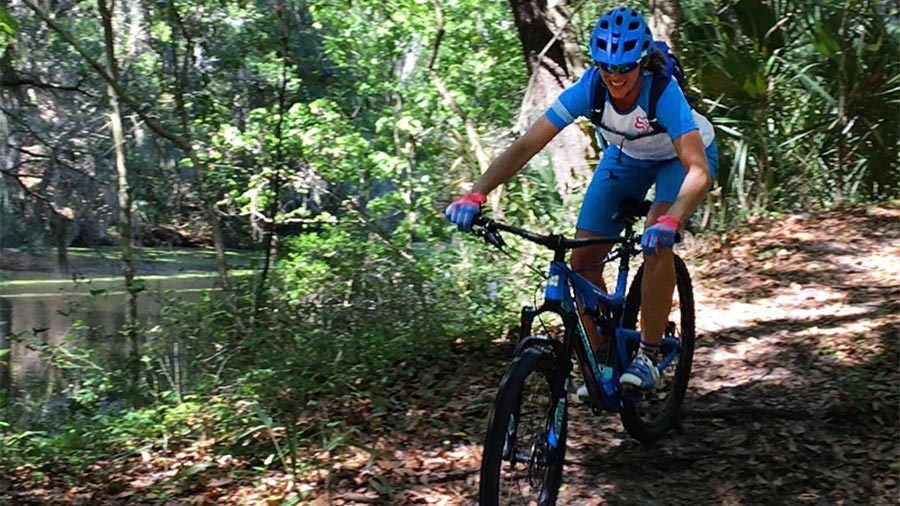Cecilia Potts mountain biking