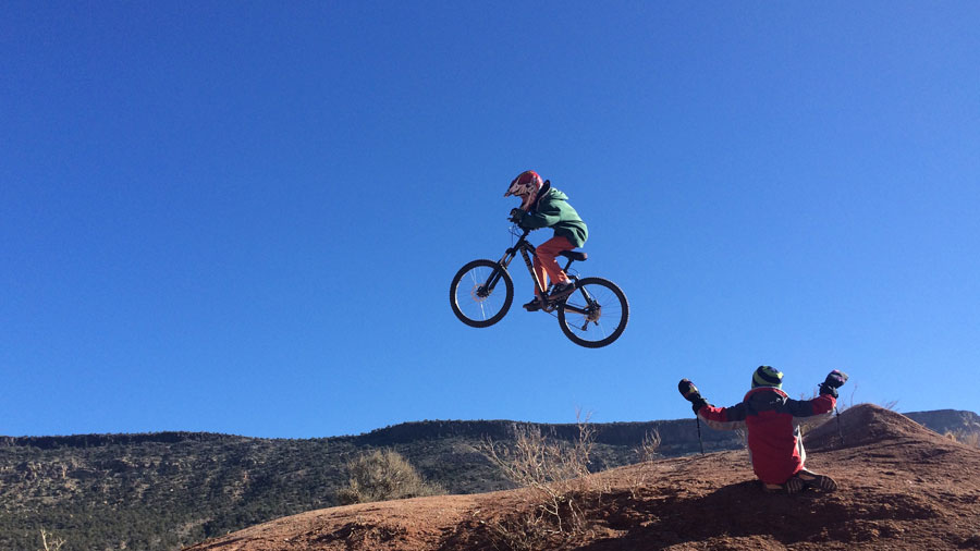help kids develop love of mountain biking old rampage site, virgin UT