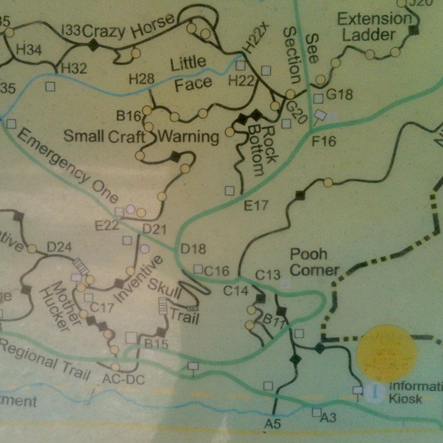 Hartland Road BC - map detail