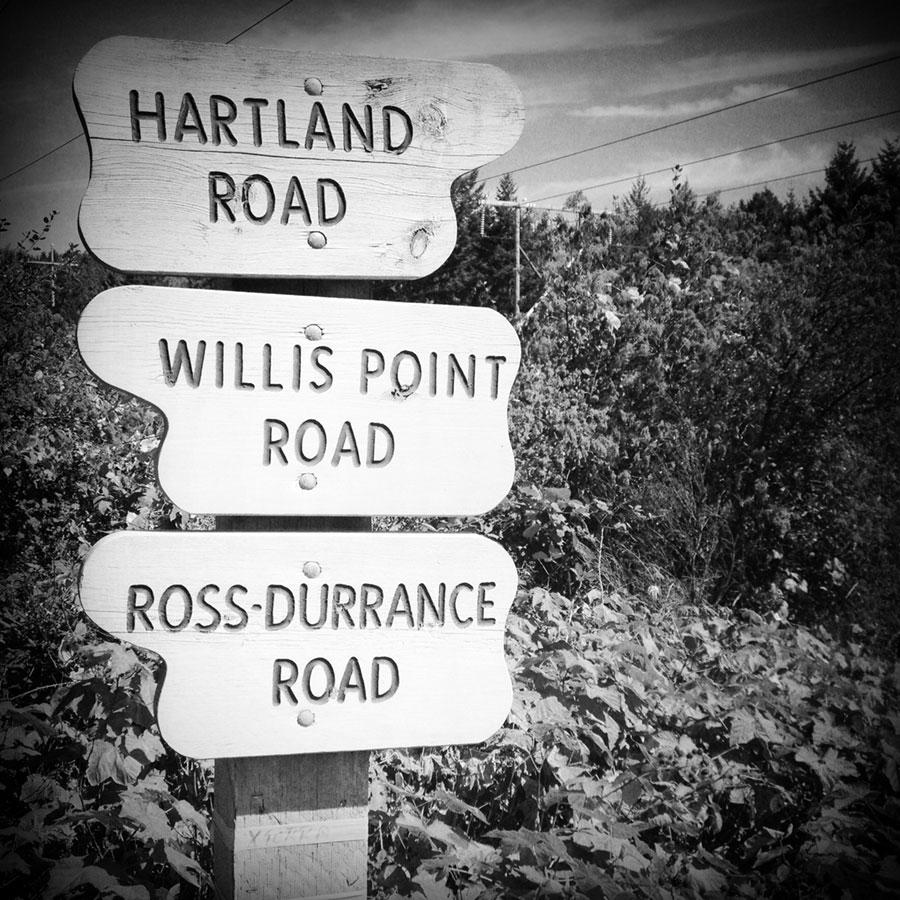 Hartland Road BC - sign post