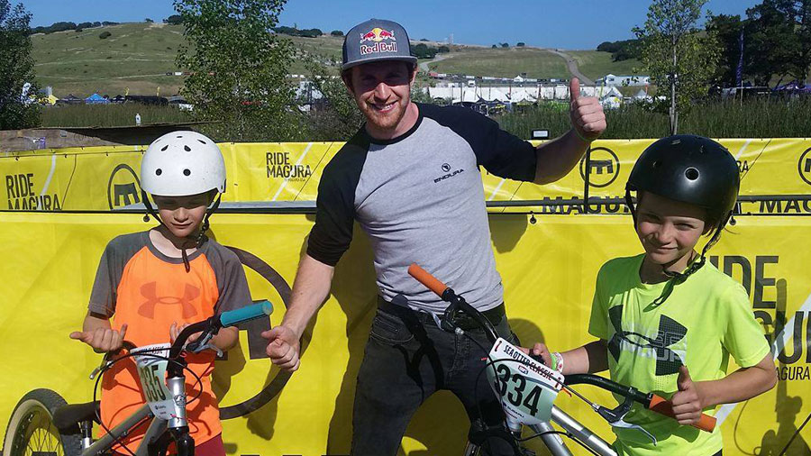 Danny MacAskill and the Mallen twins.