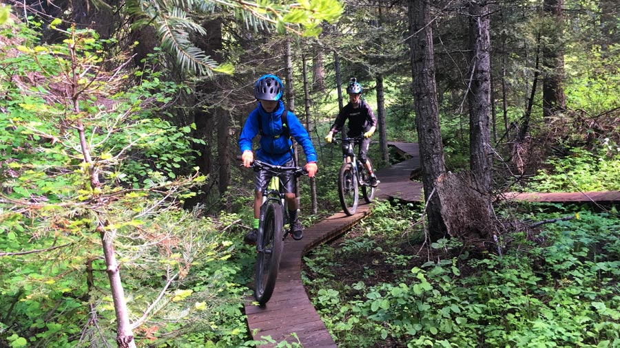 Mountain biking with kids in McCall, Idaho.