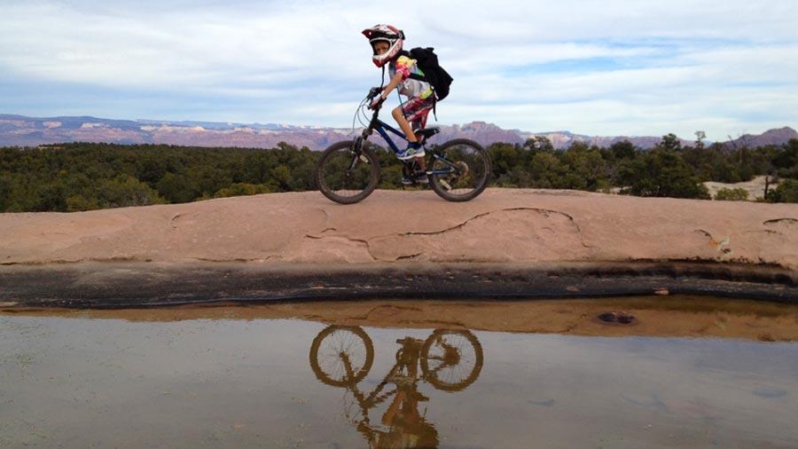 It's a blast to ride Little Creek Mesa. This zone is near Hurricane, Utah.