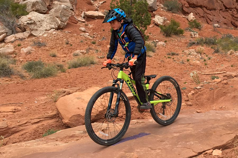 Pedaling the Trek Fuel Ex Jr. in Moab, Utah