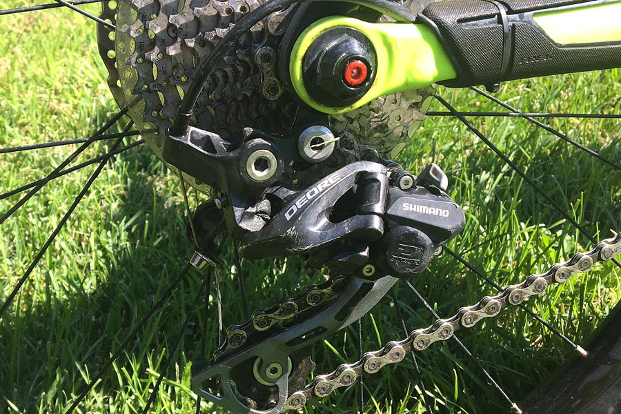 Trek Fuel Ex Jr. with Shimano Deore rear derailleur