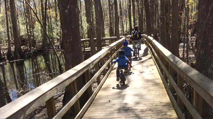 Mountain biking with kids in colder weather