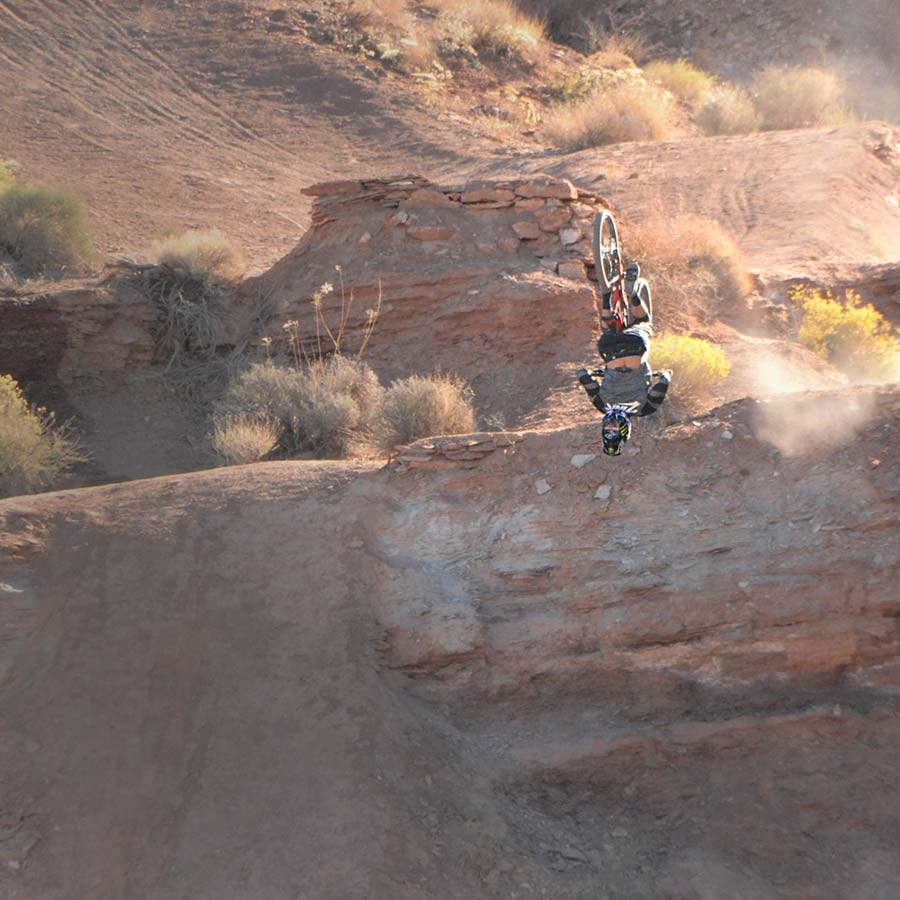 Cam Zink, freeride mountain biker at the 2017 Red Bull Rampage