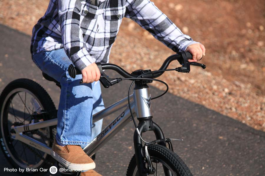 "Looking at the Prevelo Alpha Two - a 16"" wheel bike for kids"