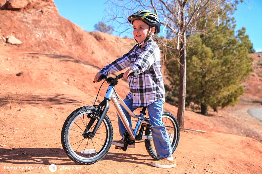 "Featured photo of the Prevelo Alpha Two - a 16"" wheel bike for kids"